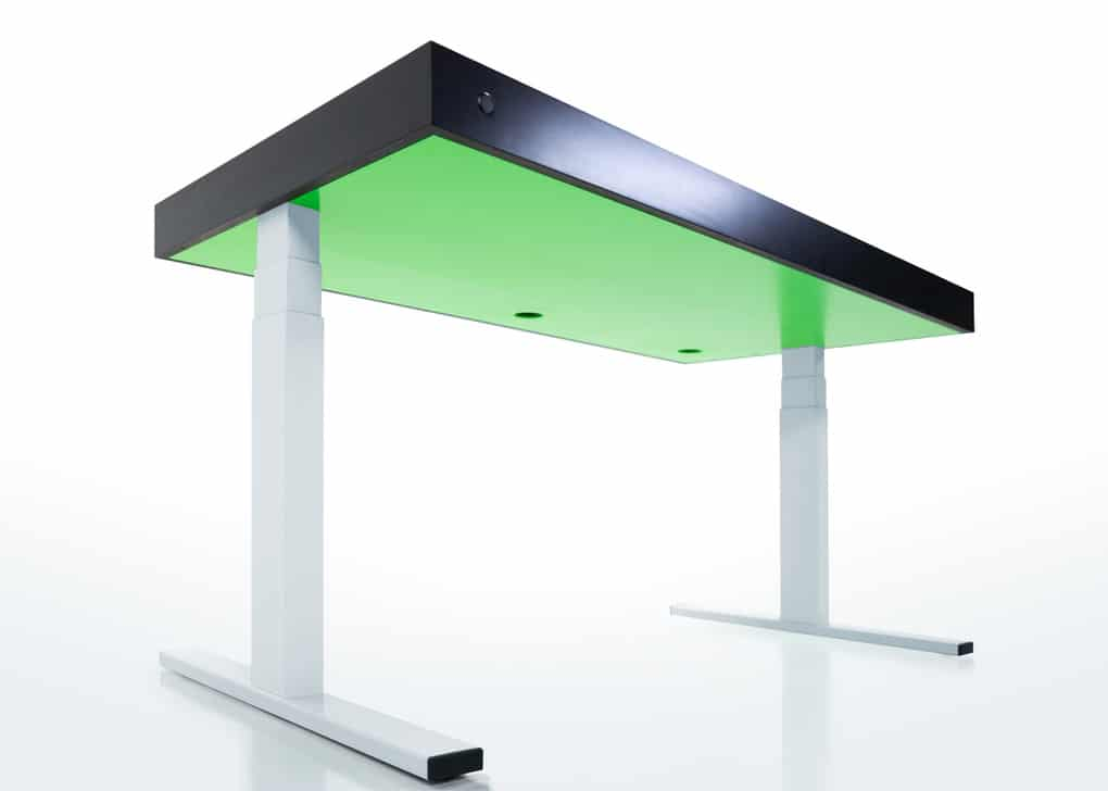 High Tech Desk kinetic work desk that's a mashup between desk, smartphone and fitbit