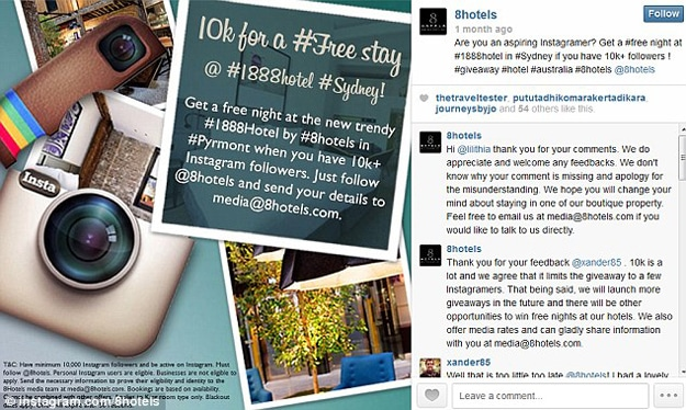 Instagram Hotel: Stay For Free If You Have Enough Instagram Followers