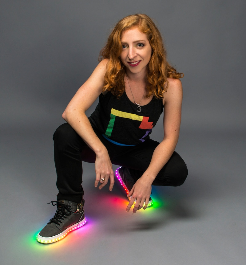 DIY High Tech Rainbow Kicks: The High-Top Sneakers That Light Up