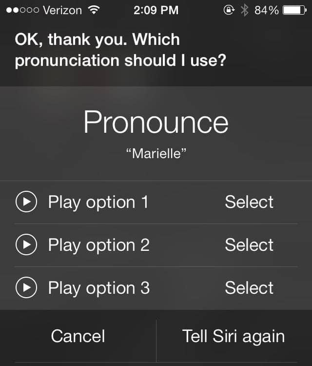 how to get siri to pronounce names right