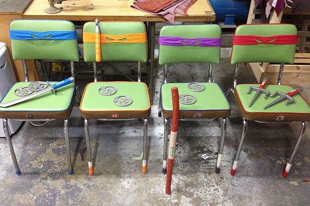 Custom Made Teenage Mutant Ninja Turtles Chairs You'd Want To Sit On