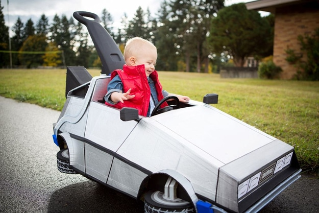 Epic Cardboard DeLorean Push Car Takes You Back To The Future