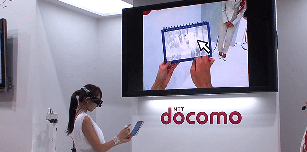 Docomo Unveils Heads Up Display That Turns Anything Into A Tablet