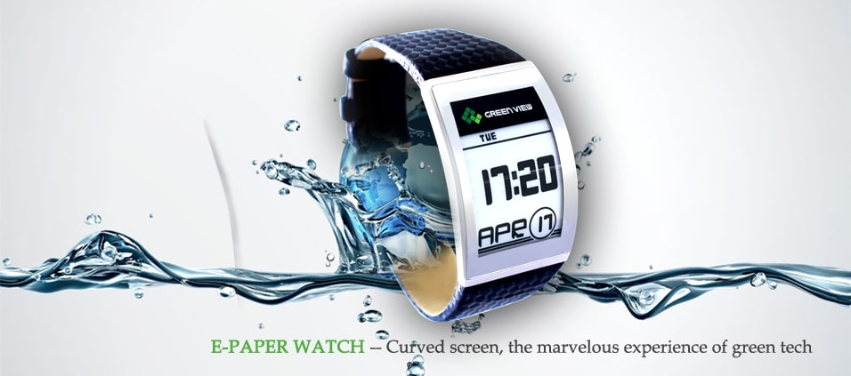 E-Ink Curved Watch From Green View Is A Digital Marvel