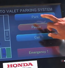Honda Presents Driverless Valet Parking System