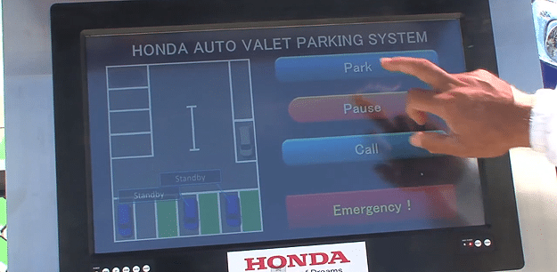 Honda Valet Parking System