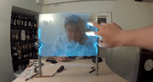 Two Guys Build Insane Touchscreen Holodisplay In 11 Hours