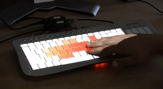 Projected Touch-Display Keyboard