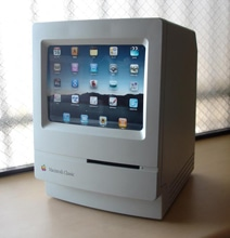 Eye-Catching Customized Macintosh Turned Into Retro iPad Stand