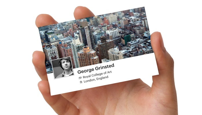 Social Business Card Generator