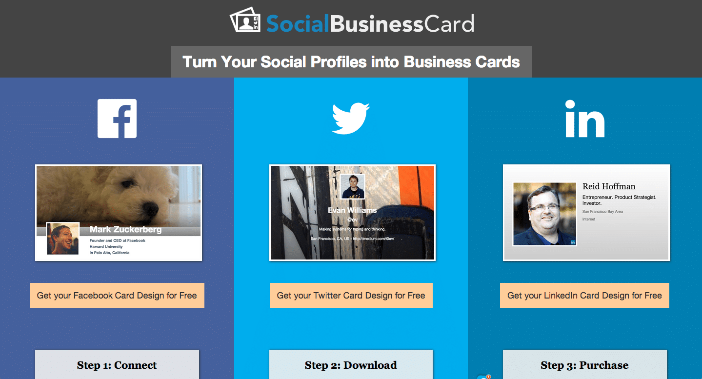 Social Business Card Service