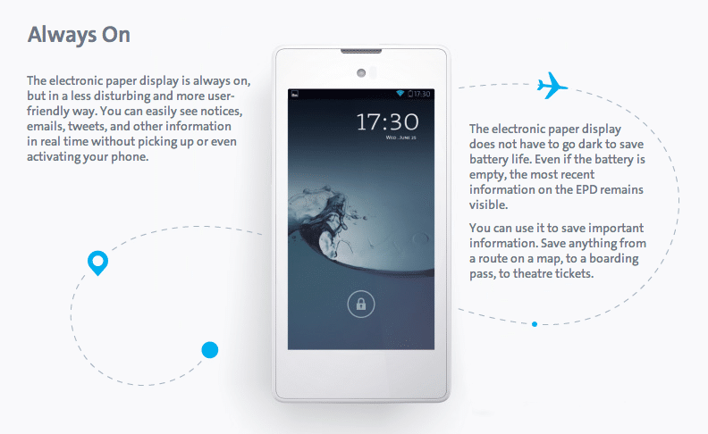 YotaPhone Sports Innovative Double Sided Display Technology