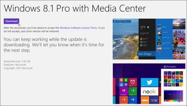 windows 8.1 update store