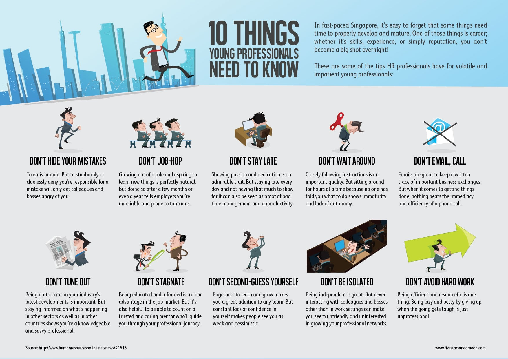 10 Tips Young Professionals Infographic