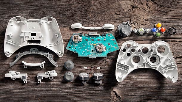 18 Deconstructed Game Controllers