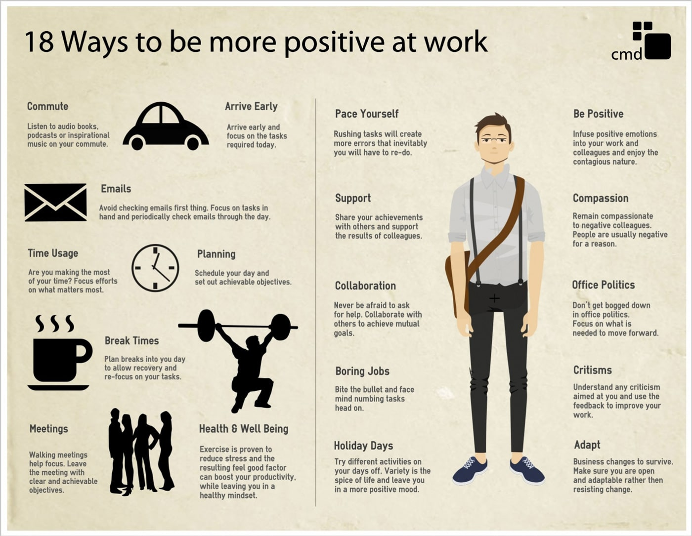 3 cool ways to work