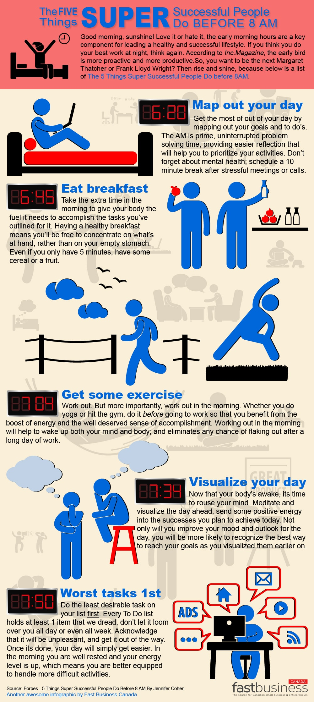 5 Things Super Successful People Do Before 8 AM [Infographic]