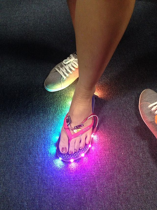 7be9aa5f19679 LED Flip Flops Add A Light Show To Your Casual Footwear
