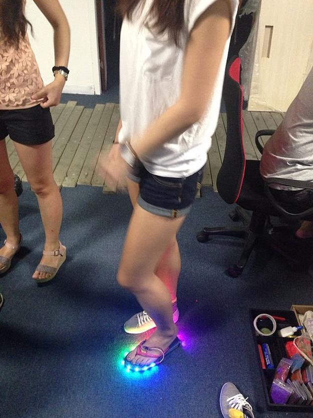 DIY LED Flip Flops