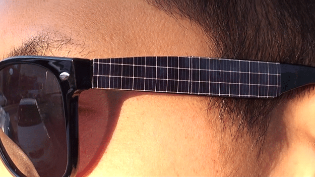 Hacked Solar Panel Sunglasses