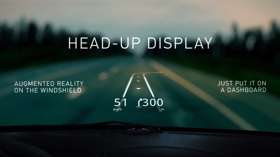Hudway Windshield Projection System