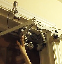 Kid Builds Stunning Automatic Door Opener Using LEGO Mindstorms NXT