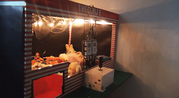 Guy Builds Life-Size Claw Arcade Game Entirely Out Of LEGO