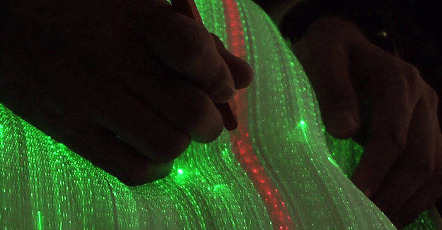 LightCloth: The Future Of Fashion Is Optic Fiber Interactive Cloth