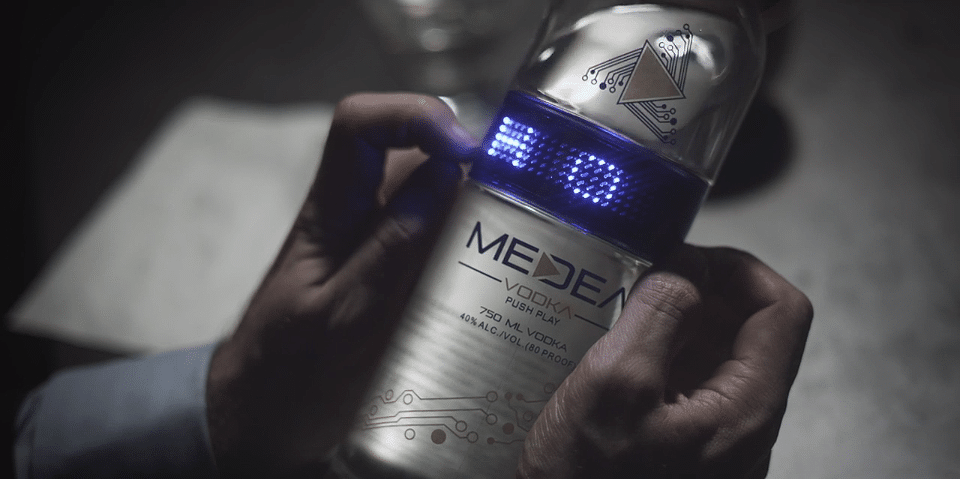 Medea Vodka LED Bottle