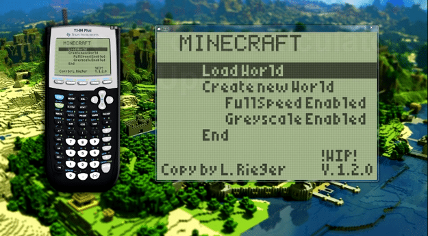 Math Whiz Recreates Minecraft Gameplay On His Graphing Calculator