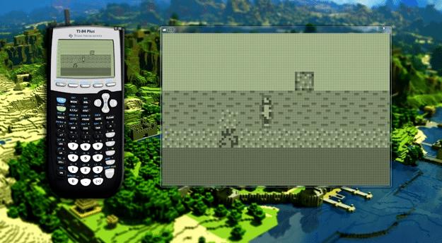 Minecraft Gameplay On Calculator