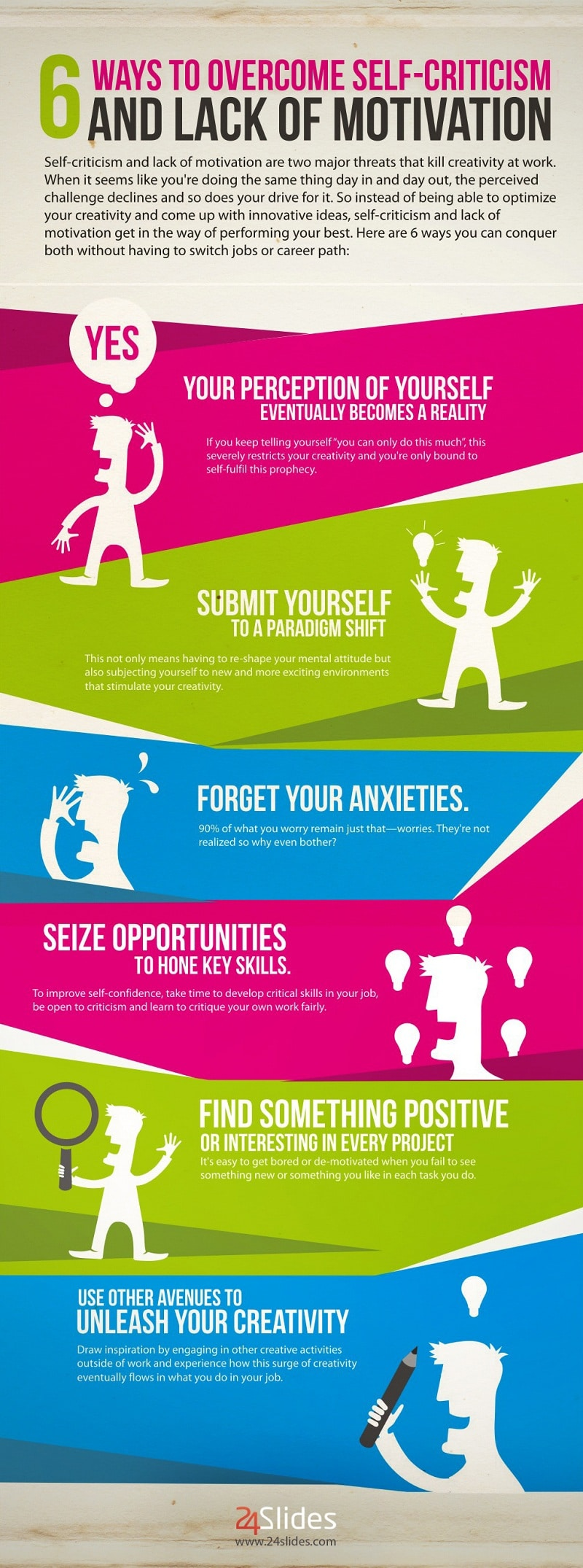 6 Ways To Overcome Self-Criticism & Lack Of Motivation [Infographic]