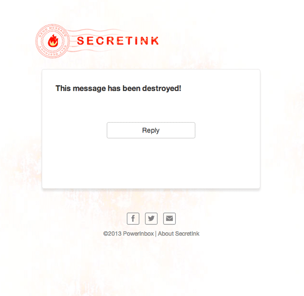 SecretInk Self-Destruct Email