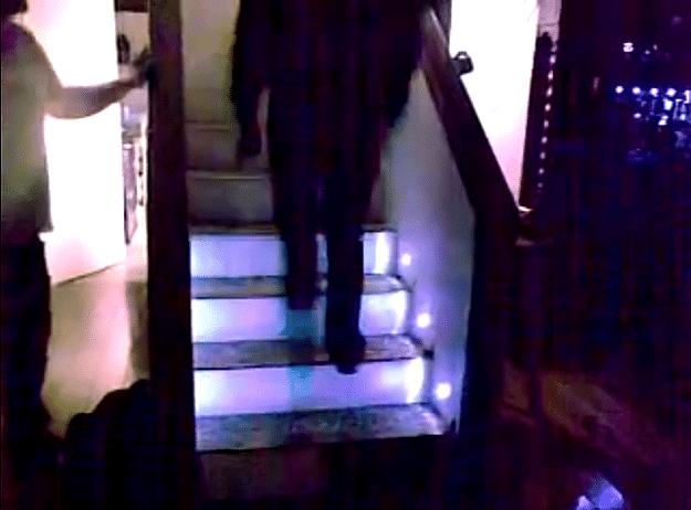 Automated Sensor-Controlled Stair Lights Make Sleepwalking More Safe