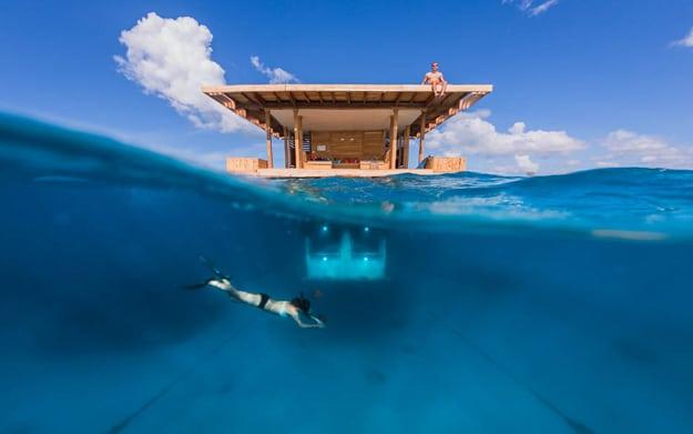 Exotic Hotel Room Has A Secret Underwater Retreat