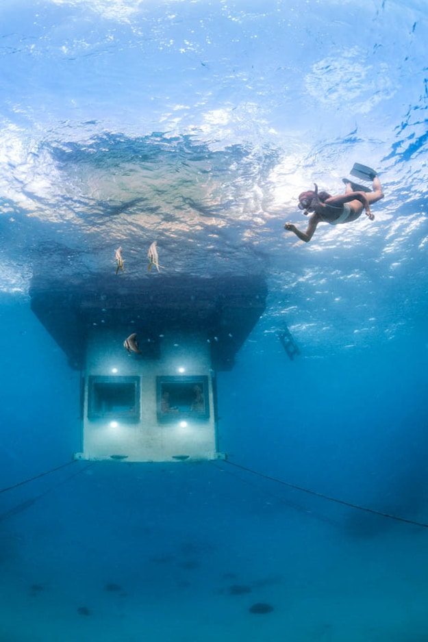 Underwater Exotic Hotel Room