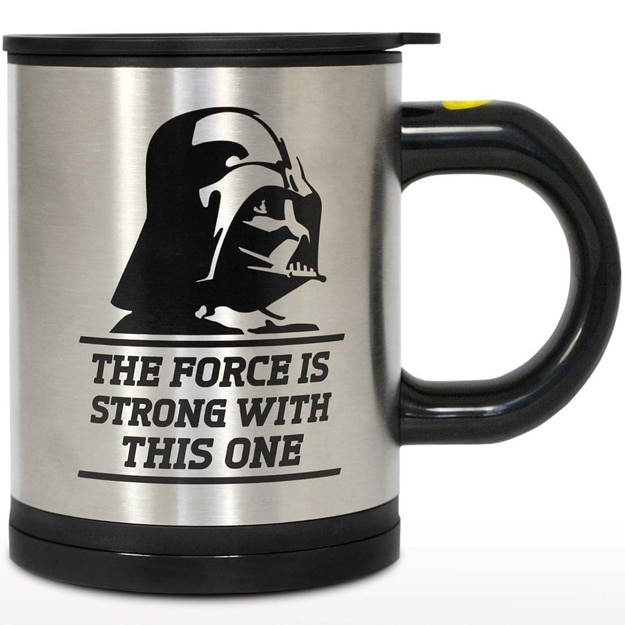 The Darth Vader Self-Stirring Mug Uses The Force