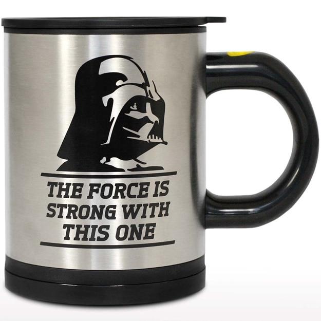 The Darth Vader Self-Stirring Mug Uses The Force