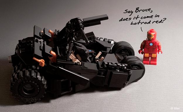 Batman Minimalistic LEGO Tumbler Replica