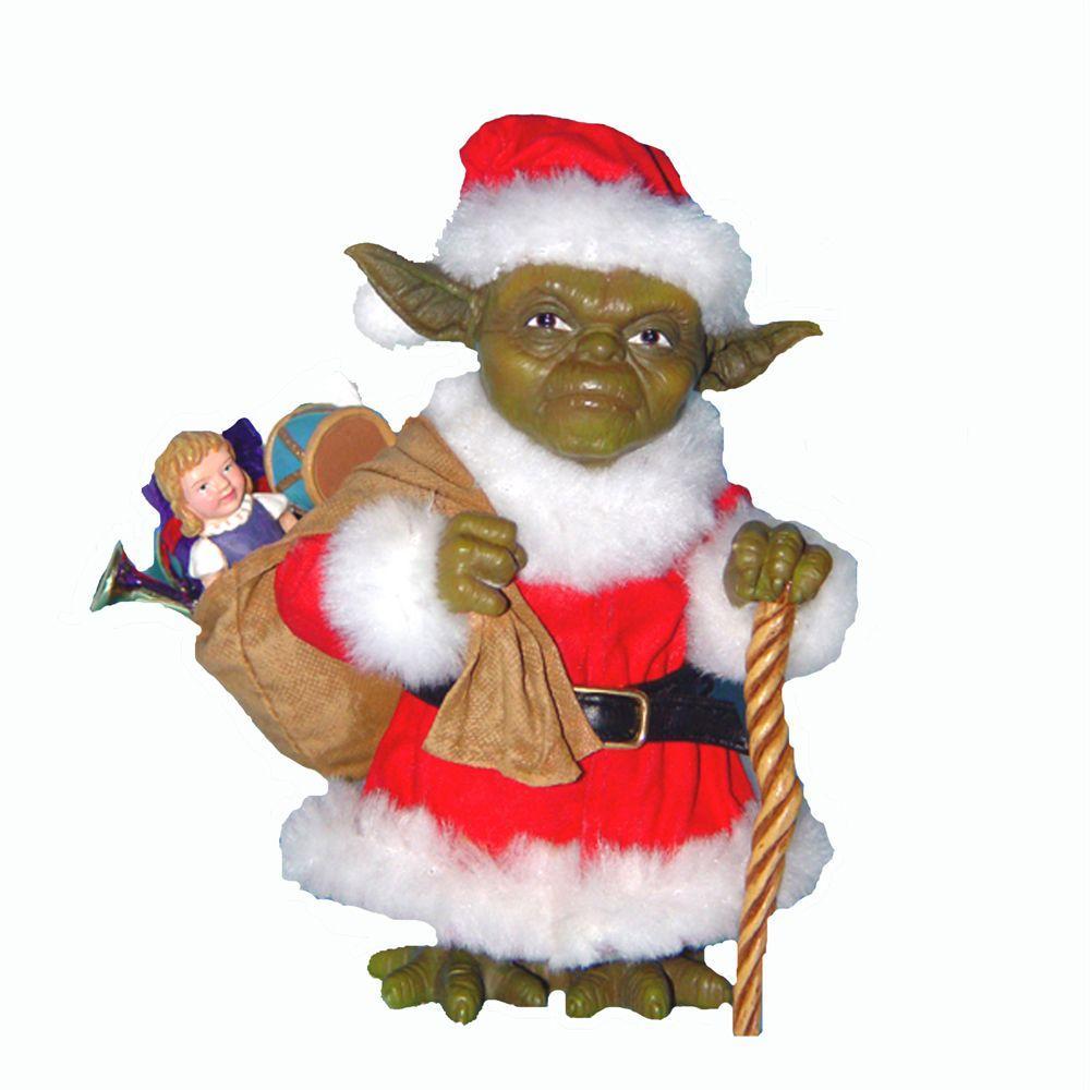 Christmas Yoda Figure