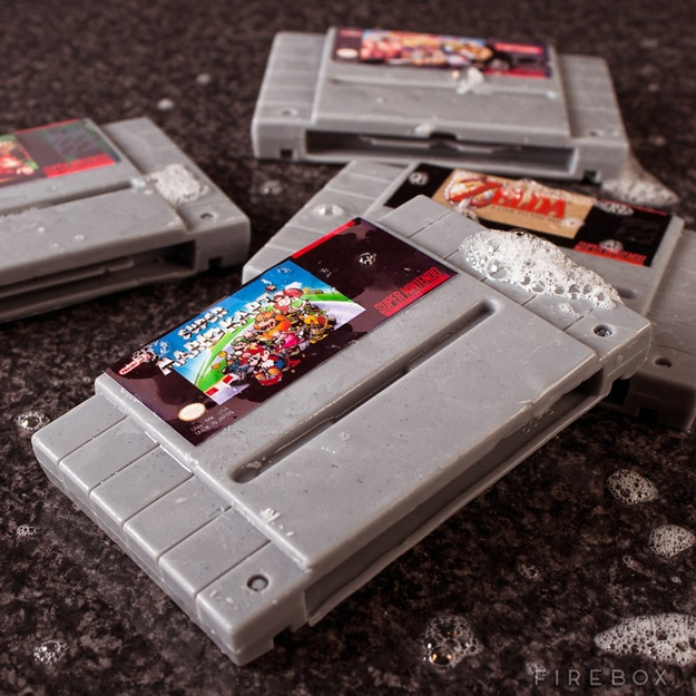 Geeky Clean: Real-Looking SNES & Game Boy Cartridge Soaps