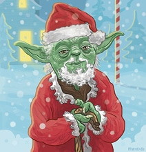 Illustrated Star Wars Christmas Cards