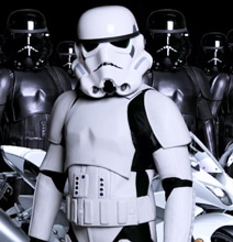 Real Stormtrooper Motorcycle Suits When Riding Your Speeder Bike