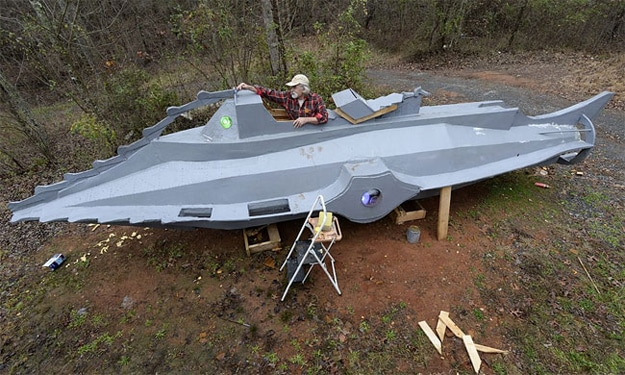 Captain Nemo Fan Builds 32-Foot Replica Of The Nautilus Submarine