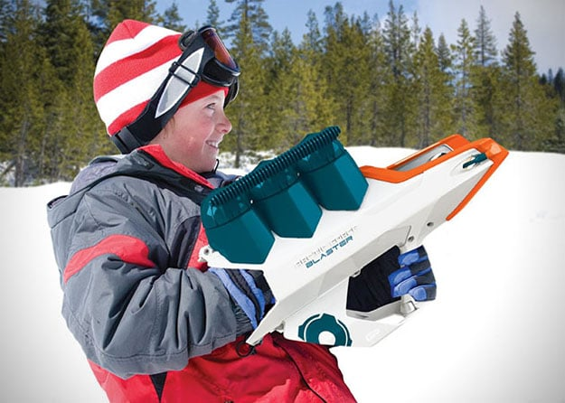 WHAM-O Snowball Blaster Takes Snowball Fights To A Whole New Level