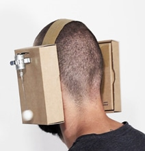 Zimoun DIY Mechanical Cardboard Headphones