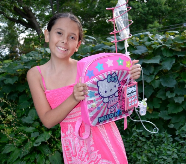11-Year Old Cancer Survivor Reinvents The IV Pole