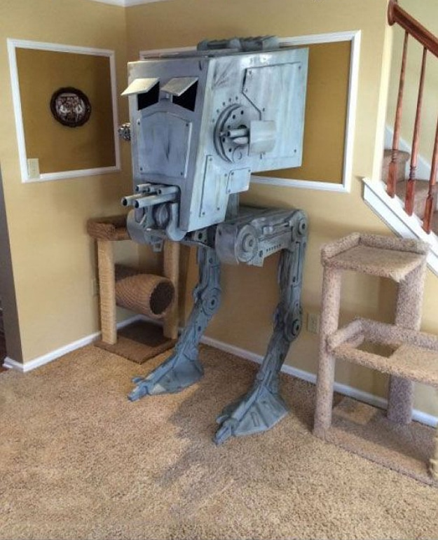 Guy builds iconic at st star wars cat house bit rebels for Epic cat tree