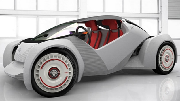 World 39 s first fully 3d printed car only took 44 hours to for Local motors 3d printed car