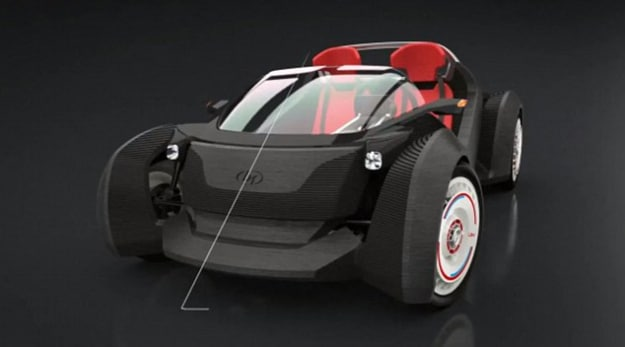 World's First Fully 3D Printed Car Only Took 44 Hours To Complete